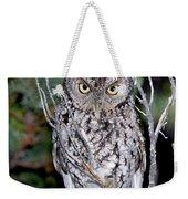 Whiskered Screech Owl Weekender Tote Bag