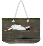 White Ibis In Flight Weekender Tote Bag