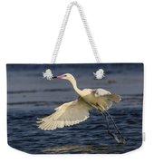 White Morph Redish Egret Weekender Tote Bag