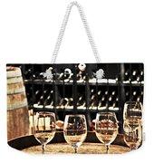 Wine Glasses And Barrels Weekender Tote Bag