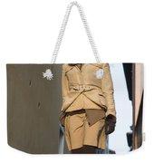 Woman Walking With Her Dog Weekender Tote Bag