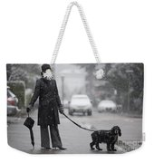 Woman With Her Dog Weekender Tote Bag