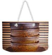 Wooden Bowls Weekender Tote Bag