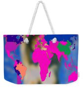 World Map And Aphrodite Weekender Tote Bag