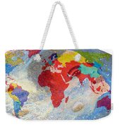 World Map And Barack Obama Stars Weekender Tote Bag
