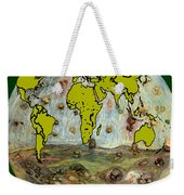 World Map And Earth Weekender Tote Bag