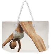 Yoga Downward Facing Dog Pose Weekender Tote Bag