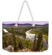 Yukon Canada Taiga Wilderness And Mcquesten River Weekender Tote Bag