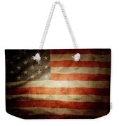 American Flag Rippled Weekender Tote Bag