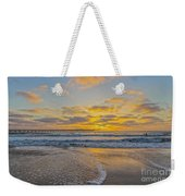 Ocean Beach Pier Sunset Weekender Tote Bag