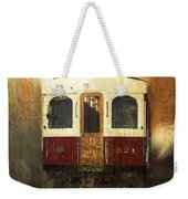 321 Antique Passenger Train Car Textured Weekender Tote Bag