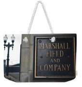 Marshall Field's Store Weekender Tote Bag