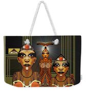 338 - Aliens With Egyptian Touch Weekender Tote Bag