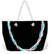 3584 Three Strand Twisted Shell Necklace Weekender Tote Bag