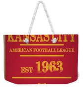 Kansas City Chiefs Weekender Tote Bag