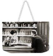 Silent Film Still: Drinking Weekender Tote Bag by Granger