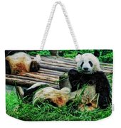 3722-panda -  Acanthus Sl Weekender Tote Bag