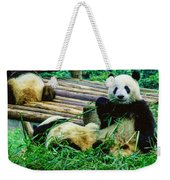 3722-panda -  Colored Photo 1 Weekender Tote Bag