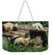 3722-panda -  Colored Photo 2 Weekender Tote Bag