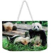 3722-panda -  Embossed Sl Weekender Tote Bag