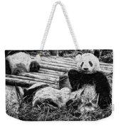 3722-panda -  Graphite Drawing 2 Sl Weekender Tote Bag