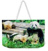 3722-panda -  Oil Stain Sl Weekender Tote Bag