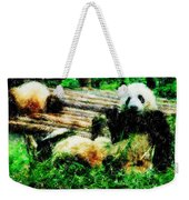 3722-panda -  Pastel Pencils Weekender Tote Bag