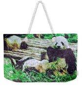 3722-panda -  Watercolor 2 Sl Weekender Tote Bag