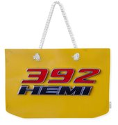 392 Hemi In Yellow Weekender Tote Bag