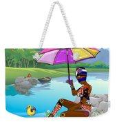 Girl By The Lake Weekender Tote Bag
