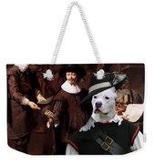 American Staffordshire Terrier Art Canvas Print Weekender Tote Bag