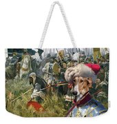 Chart Polski - Polish Greyhound Art Canvas Print Weekender Tote Bag