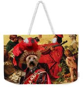 Silky Terrier Art Canvas Print Weekender Tote Bag