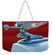 1936 Packard Hood Ornament Weekender Tote Bag