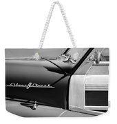 1948 Pontiac Streamliner Woodie Station Wagon Emblem Weekender Tote Bag