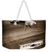 1955 Chevrolet Belair Hood Ornament Weekender Tote Bag