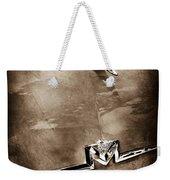 1956 Mercury Monterey Hood Ornament - Emblem Weekender Tote Bag
