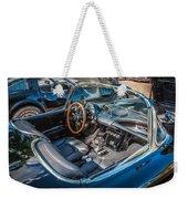 1959 Chevy Corvette Convertible Painted  Weekender Tote Bag