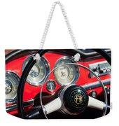 1961 Alfa Romeo Giulietta Spider Steering Wheel Emblem -1239c Weekender Tote Bag