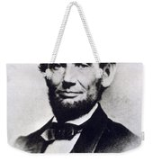 Abraham Lincoln Weekender Tote Bag by Anonymous