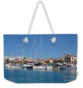 Aegina Port Weekender Tote Bag
