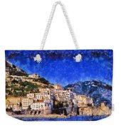 Amalfi Town In Italy Weekender Tote Bag