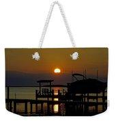 An Outer Banks North Carolina Sunset Weekender Tote Bag