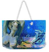 Ancient Cyprus Map And Aphrodite Weekender Tote Bag
