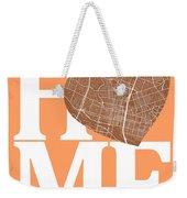Austin Street Map Home Heart - Austin Texas Road Map In A Heart Weekender Tote Bag