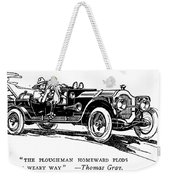 Automobile Cartoon, 1914 Weekender Tote Bag