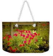 Fence Line Flowers Weekender Tote Bag