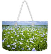 Blooming Flax Field Weekender Tote Bag