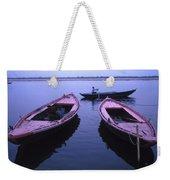 Boats On The Ganges River Weekender Tote Bag