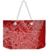 Bogota Street Map - Bogota Colombia Road Map Art On Colored Back Weekender Tote Bag